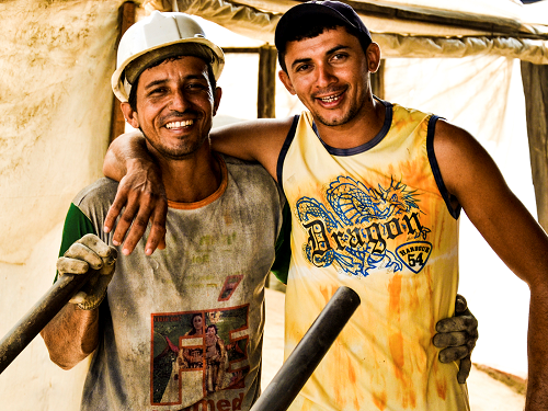 Factory workers - Brazil biomass project